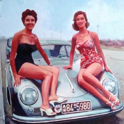 Jeunes femmes à la Porsche